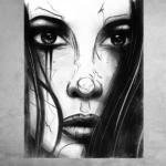 Take a Look, Digital Painting gedruckt auf Aluminium Dibond