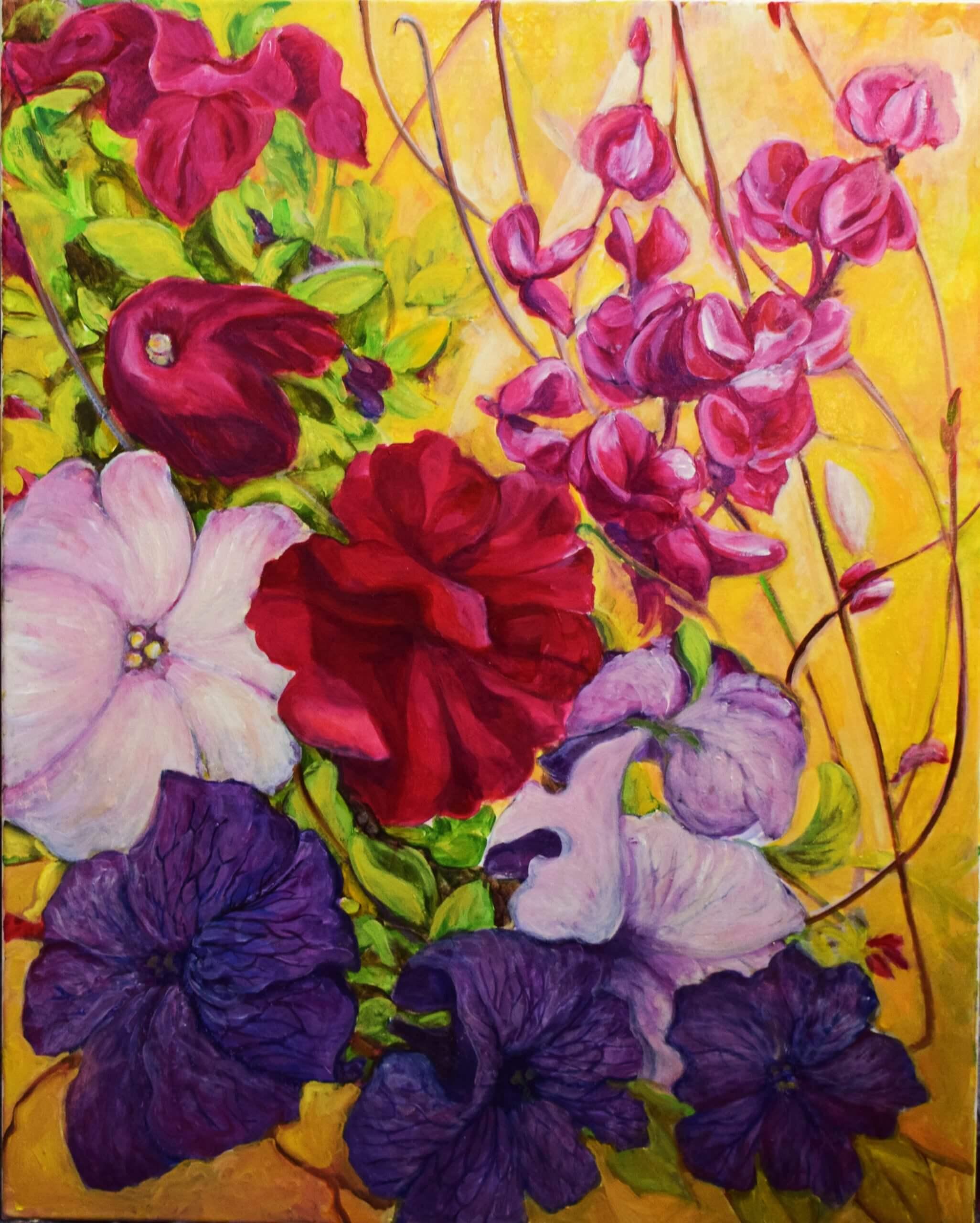 Blumen aus Sakmara, 80x60 cm, 2019 Tatjana Meier