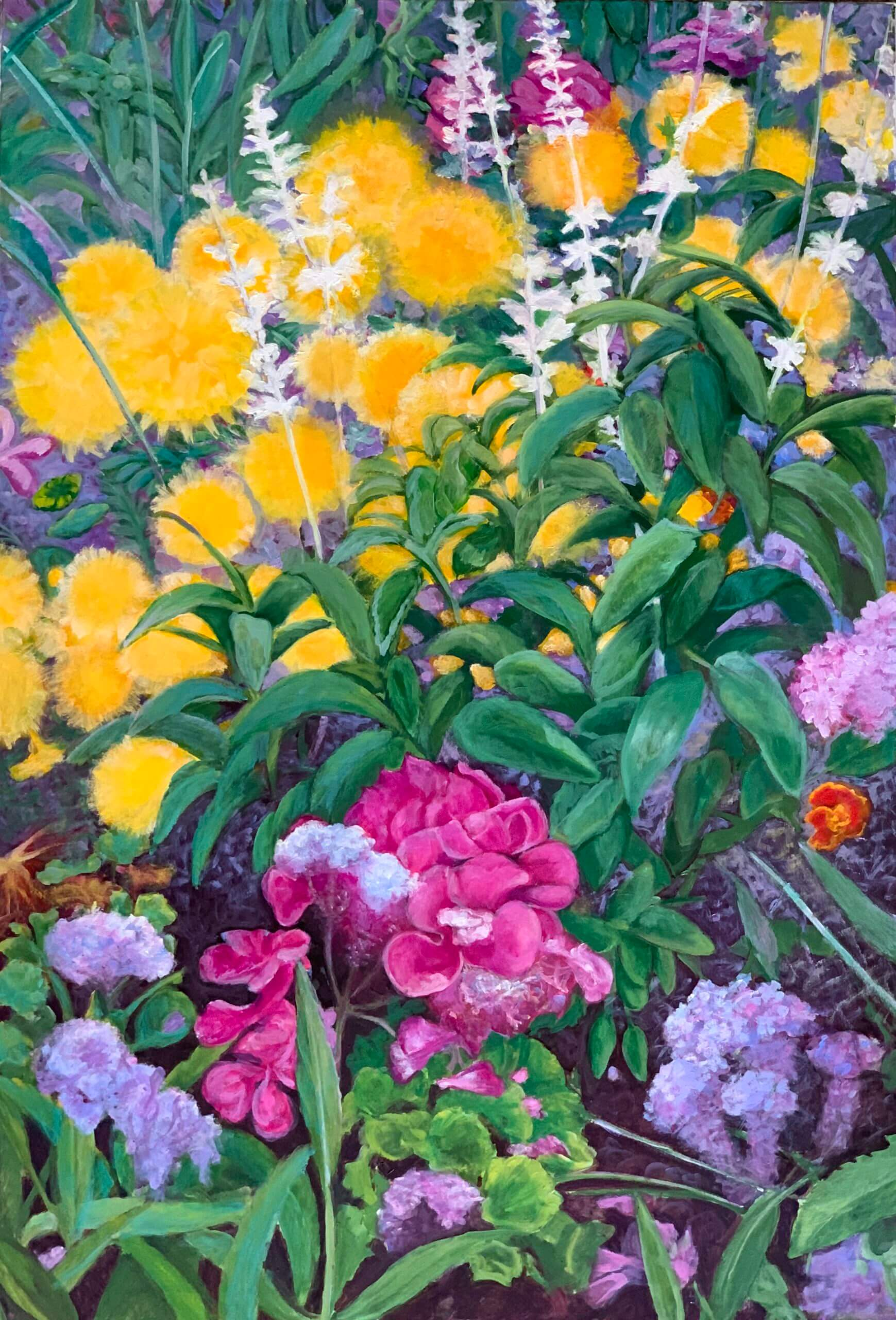 Blumenwiese, 130x90 cm, 2017, Öl auf Leinwand Tatjana Meier