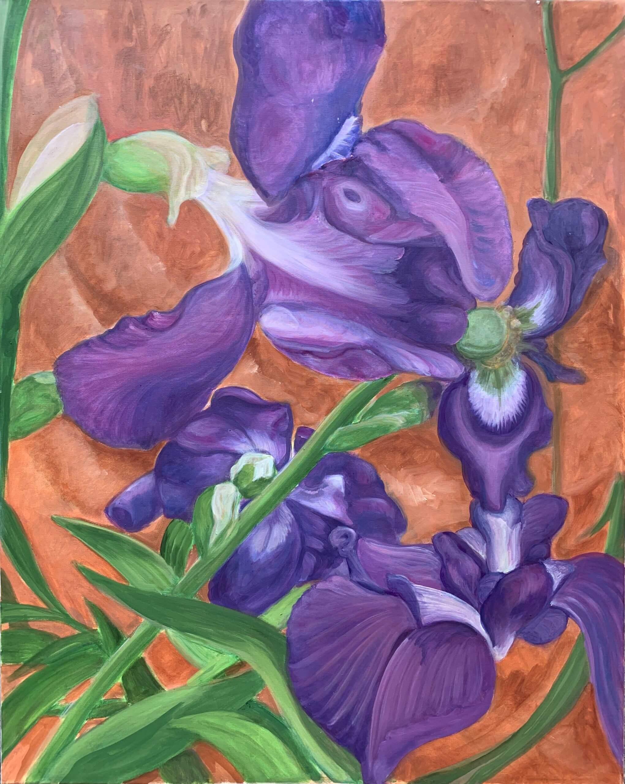 Iris, 80x60 cm, 2019 Tatjana Meier