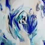 That Blue. 80x80 cm Acryl auf Leinwand. Diana Alb 2020 450€