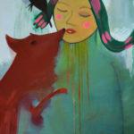 Der Kuss 2019, Acryl auf Leinwand by Miriam Jordan
