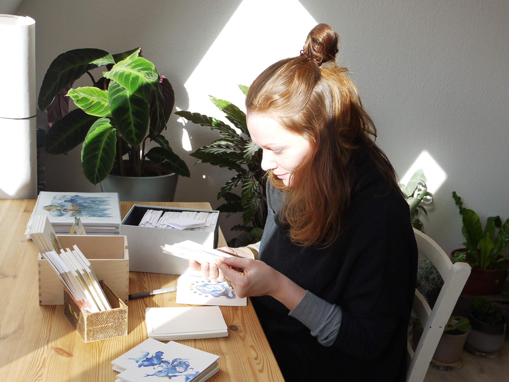 Atelierimpression Linografie