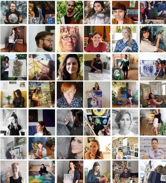 Deine Lieblingskünstler Collage