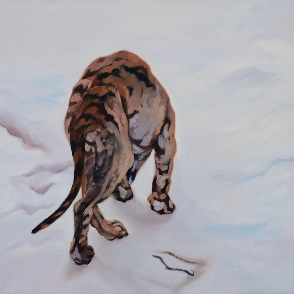 Untier, 40x40cm, Öl auf Leinwand2015 by Hanne Kroll