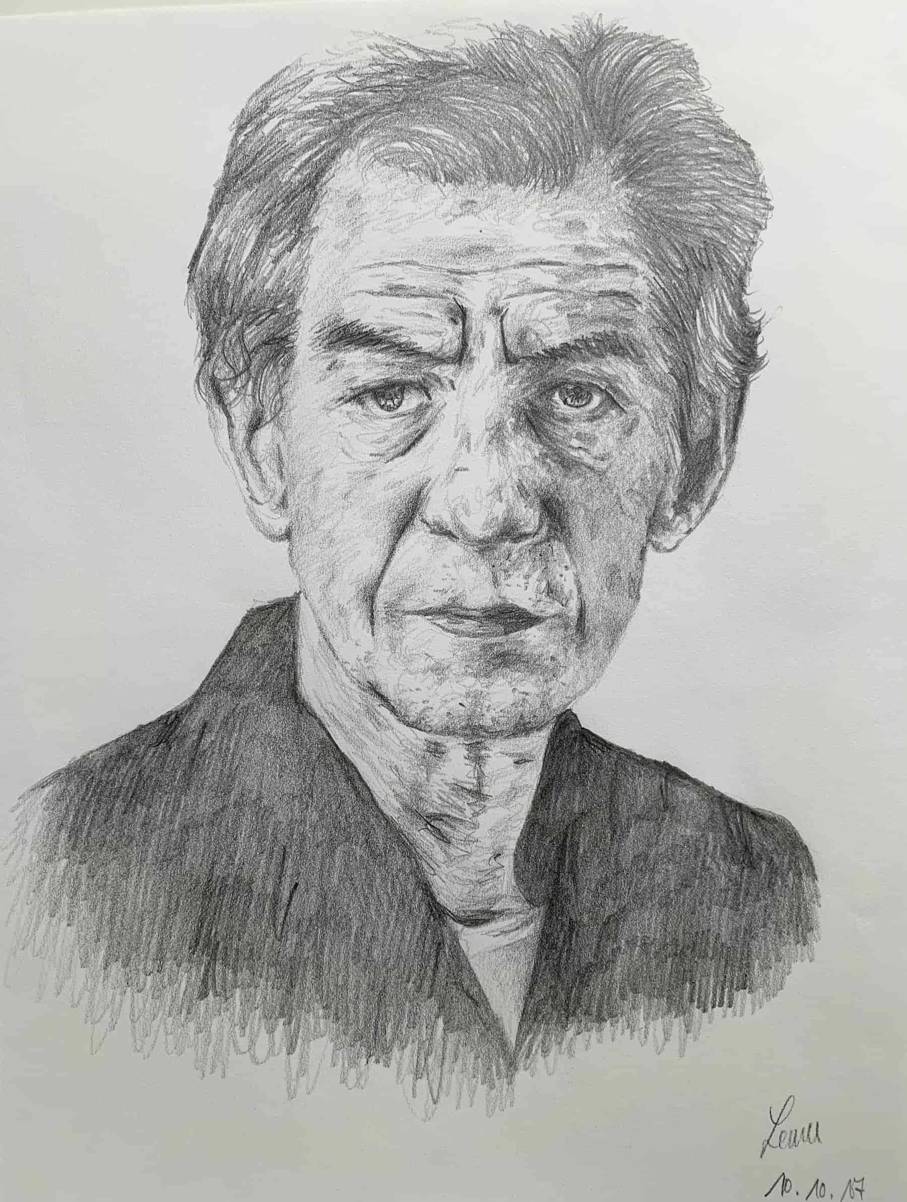 Ian McKellen; 2017; A4; Bleistift auf Zeichenpapier