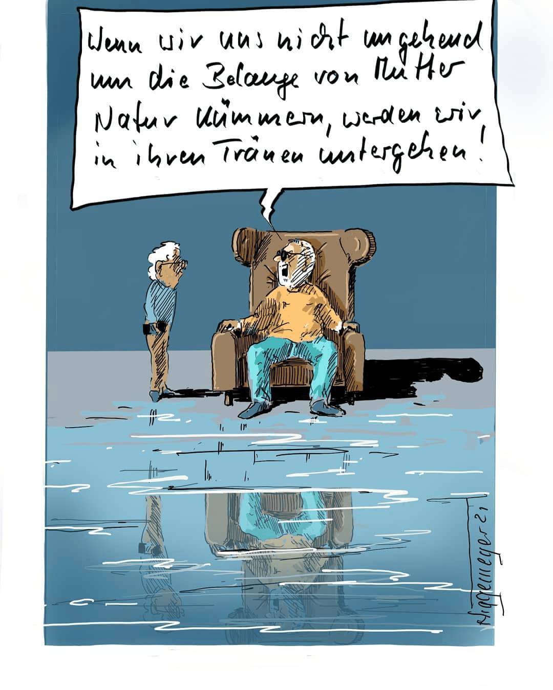 Cartoon, Klimawandel (Tag-der-Sonnenbrille), DIN A 3