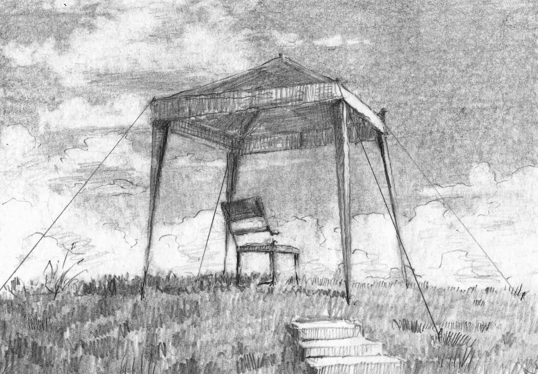Zeichnung, 20 x 20 cm, Bleistift auf Papier