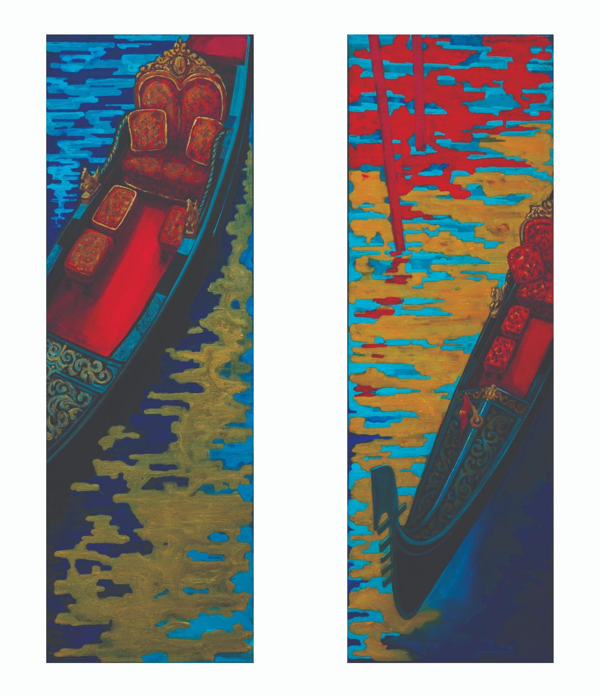 Venice Gondolas_Diptich_Acryl_Leinwand_120_80cm_jpg by Svetlana Catif-Filonova