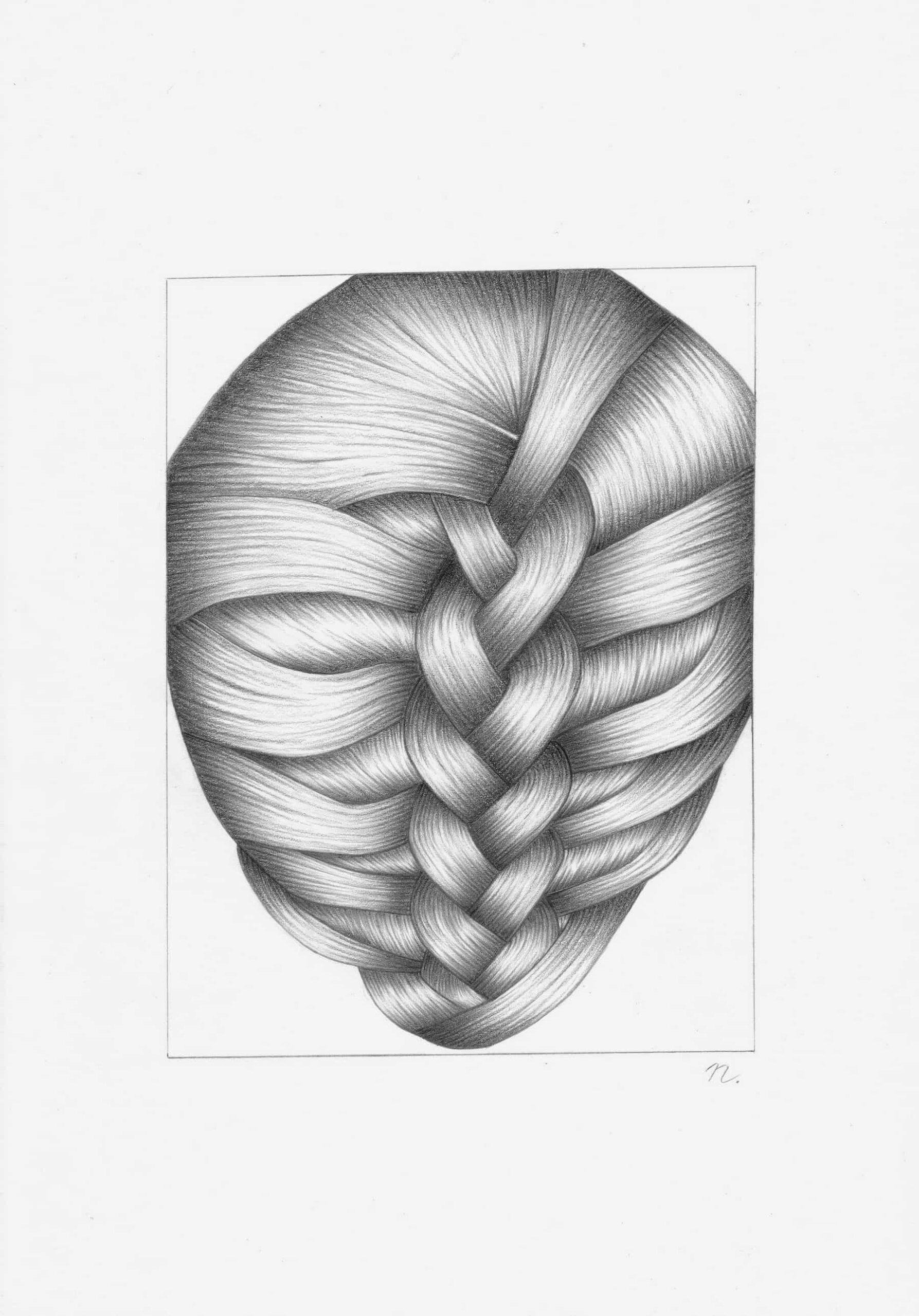 Wer bin ich - 21,0cm x 29,7cm - Bleistift auf Papier by Nadin Wunderlich